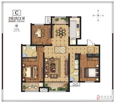 138�O三室两厅两卫
