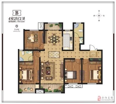 152�O四室两厅两卫