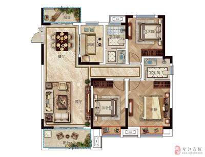 户型G-115�O三室两厅两卫