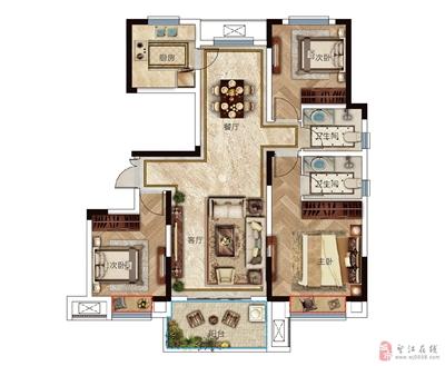 户型H-115�O三室两厅两卫