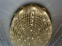 出售超大水晶吊顶灯直径约3-5米