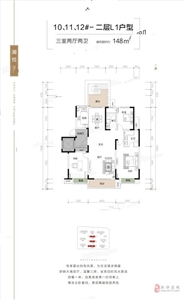 3室2厅2卫1厨148�O