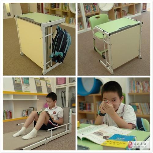 辅导班课桌椅厂家批发,可以变床的一体课桌