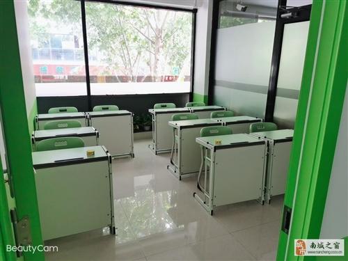 全新学生一体课桌椅,托管辅导班专用课桌,桌床两用
