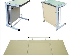 托管辅导班学生一体课桌椅,能桌变床的一款课桌