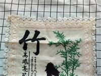 出售梅兰竹菊十字绣抱枕一套