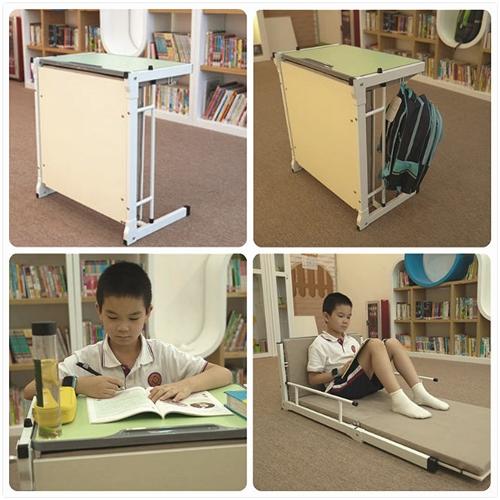 托管班学生课桌,10秒变午休床,兼顾学息