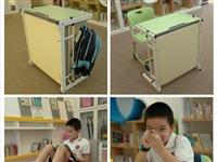 能变成床的学生课桌,桌床两用,课室变午休室