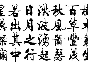 著名楷书名家陈振元书法真迹1幅赠送书法字库一套