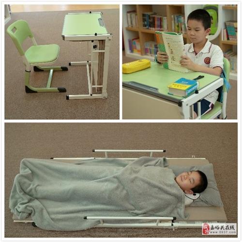 不一樣的托管班課桌,桌床一體3步展開成學生床