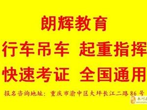 重庆哪里可以报名学吊车操作证流动式起重机司机证