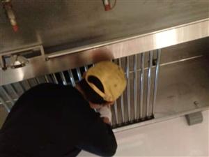 大型酒店饭店餐饮油烟机、油烟管道、油烟净化器清洗