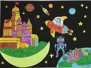 1033胡宇涵《地球・月球》