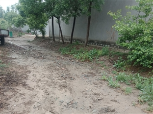 村内道路中间挖沟,村民无法出行