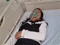 今晚一名年轻女子晕倒抽搐在高唐北湖北岸边,现在高唐县医院急诊科,家属已找到
