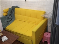 8成新沙发床,1800多买的,780出,1.6米宽2米长,太大了用不到,低价,市区免费送到
