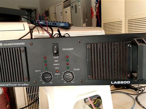 专业舞台演出功放,声准LA2800两可推动15寸音响。音质好,功率大。原装机器里面没有动过。机器净重...