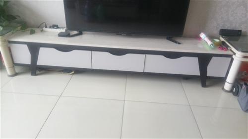 皇朝家私品牌电视柜,长2米3,宽30公分,天然大理石桌面,带三个抽屉,刚买一年多,几乎**,无磕碰、...