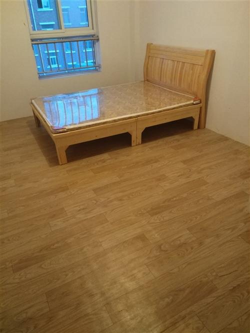 没用过的新床,闲置出售,1.5*2.0的带床垫