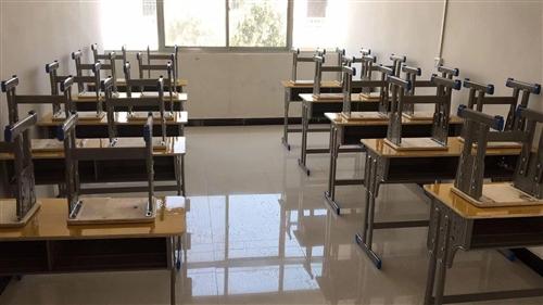 还剩6套,100/套(一张双人桌,两张凳子,9.5成新,买桌子送灶头;课桌可升降高中小学生学校双人课...