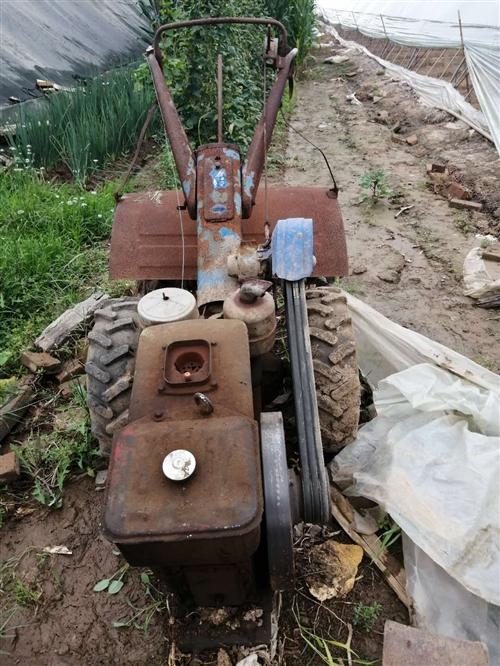 轉讓18馬力手扶旋耕機。機器很好用,深耕36公分,就是表面有銹。因大棚轉讓機器閑置打算出售。