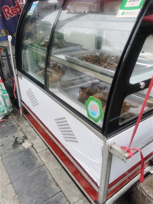冷藏展示柜,熟食,蛋糕柜  才买来不到一个月,买入价1600   自焊手推车也要几百   有意者电话...