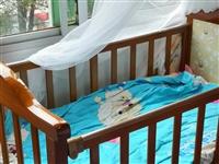 九成新实木婴儿床,原佳惠购买