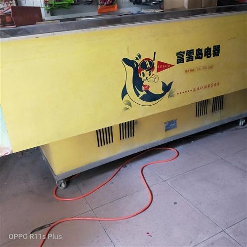 福富岛2.5米长,宽1米双机头冷冻柜,1500元。