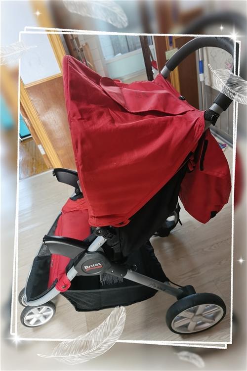 Britax宝得适三轮婴儿??推车 美版进口 可折叠万象轮可平躺  9成新