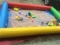 转让一套充气沙池+一套鱼池 +100斤彩虹沙玩具沙   全部转让600元,刚买不到一个月,因本人怀...
