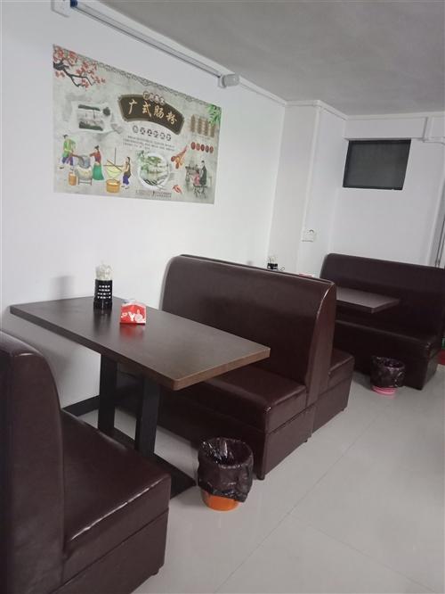桌椅,共6张3张皮制,2张实木共冰箱2个快餐恒温箱,肠粉机,9成新刚买2个月的石磨九成新一共3000...