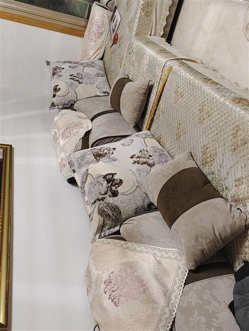 沙发一套,用了两年。很新无破损,送铺上边的垫子,2800买的