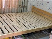一张实木床,纯实木,1一米五宽,同城需要的拿去