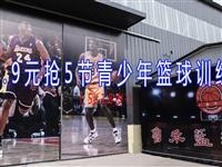 【限时抢】19.9元抢5节青少年篮球培训课(5-18岁)每节课2小时!