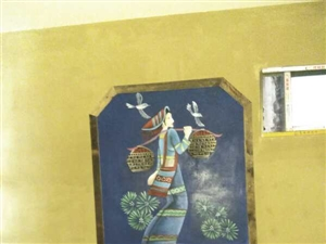 海南儋州3D壁画,3D立体浮雕手绘墙,浮雕山水画