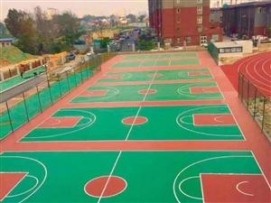 河南鄭州附近專業PVC籃球場排球場羽毛球場劃線維修
