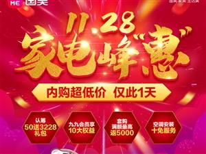 """國美電器11.28家電峰""""惠"""""""