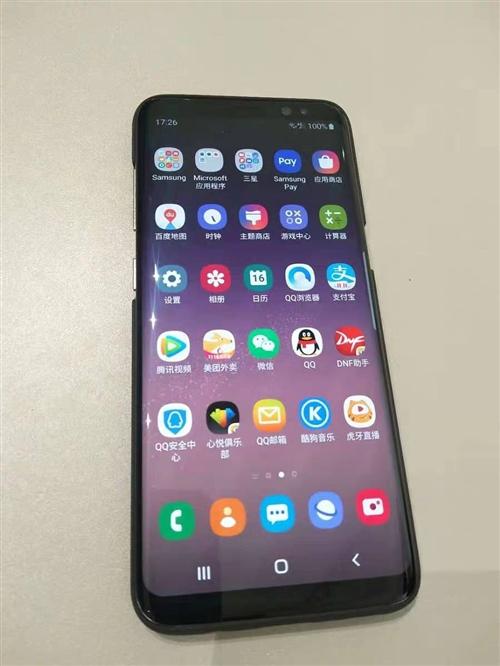 三星s8+黑色自用手机 九九新