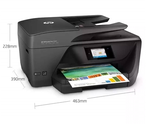 惠普 6960四合一彩色 无线QQ 微信小程序打印一体机,高速双面打印,低价转出 九成新
