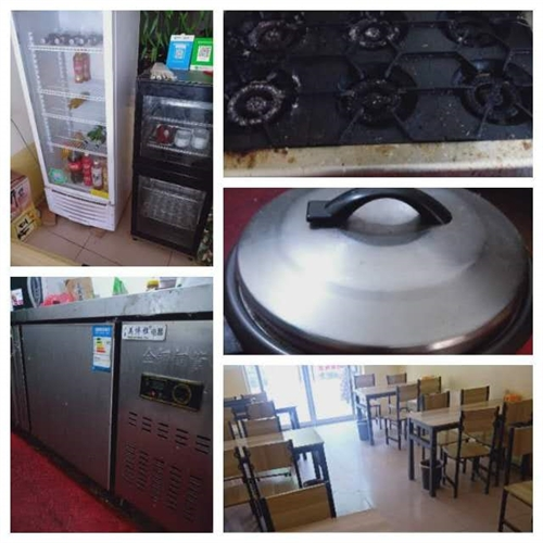 饭店不干了,有要的速度,还剩石锅,消毒柜,电扇,操作台,冰柜,炉子,桌子还有两套。