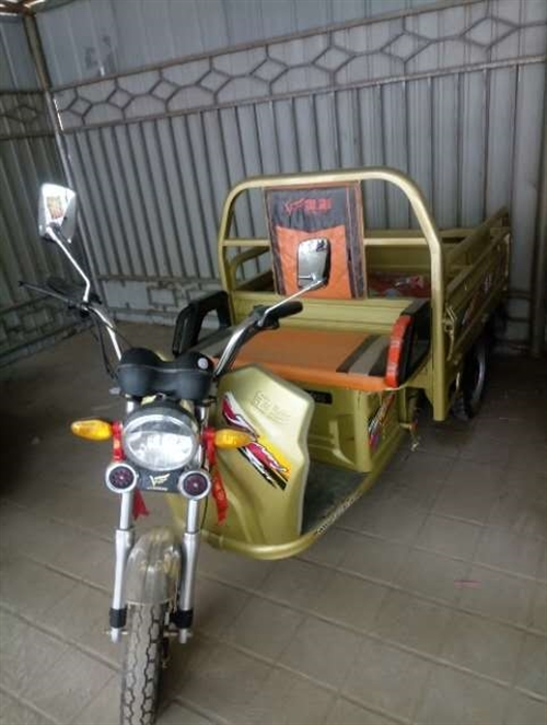 出售金彭电动三轮车,九成新,车车兜兜长140厘米,宽100厘米,车车状况好,有意的联系。