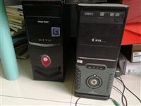 家里有两台闲置主机便宜出让(50元/台),自从买了笔记本电脑后就一直没使用过台式的,正常使用需去检测...