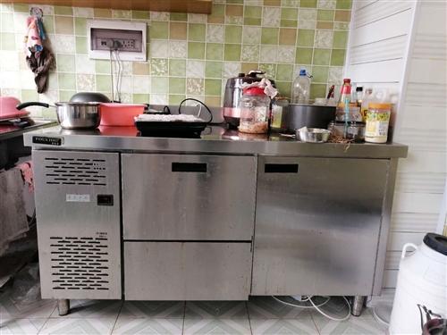 奶茶操作台带制冰机,8成新