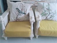 风格:田园欧式沙发,框架木质,坐垫PU材质。三人长:210CM宽75CM,单人65CM*75CM,正...