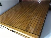 1.2米宽折叠木制竹制床,**,原准备来客用,后人没来,没用,就一直放墙角,225买的,180转,沅...
