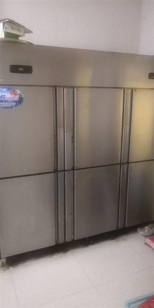 六开门冰箱  上层冰冻 下层保鲜。