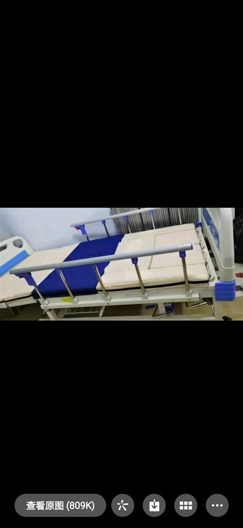 老人多功能全曲型病床。才入手4天,不用了低价出售700元,不议价。**新功能可侧翻身。附带用品齐全。