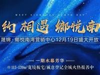 晟锦·鄉悦南湾营销中心12月19日全城盛情绽放